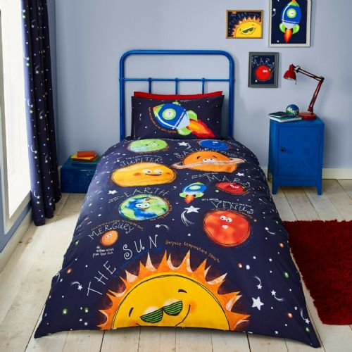 Catherine Lansfield Happy Space Navy Bedding Set